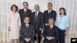 Members of the national coordinating group of the Iranian Baha'i community arrested in Spring 2008.