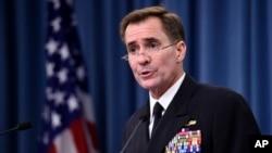 """Phát ngôn viên John Kirby của Bộ Ngoại giao Mỹ nói: """"Sự đồi bại của ISIL đã có đầy đủ tư liệu chứng minh, và phúc trình này tiếp tục cho thấy những phương pháp tàn bạo mà ISIL sử dụng trong chiến dịch khủng bố của chúng."""""""