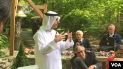 Saudi Foreign Minister Adel al-Jubein addressing members of the press, Camp David, Maryland, May 14, 2015.