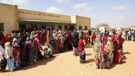 Long queues of voters in Somaliland municipal elections, November 28, 2012. (Credit: Kate Stanworth)