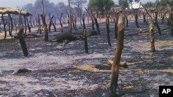 Pasar ternak di Potiskum, Nigeria habis terbakar akibat serangan hari Kamis (3/5) yang menewaskan sedikitnya 34 warga.