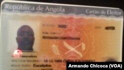 Cartão de Eleitor Angola.