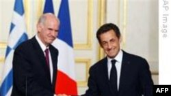 Sarkozy'den Papandreu'ya Destek