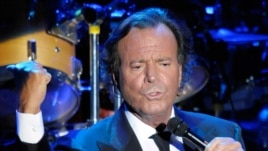 Spanish singer Julio Iglesias as he performs during a concert at Cap Roig festival in Calella de Palafrugell, Spain.