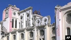 Port-au-Prince's faithful attend a somber Mass Sunday at the main cathedral since the devastating earthquake