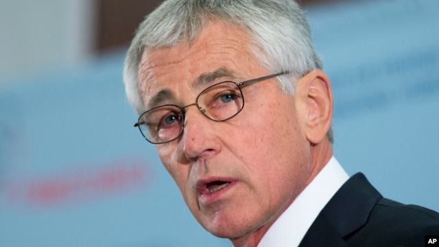 FILE - Defense Secretary Chuck Hagel.