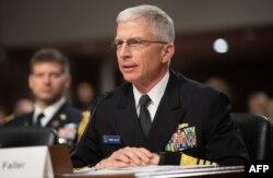 Arhiva - Komandant američke Južne komande, admiral Kreig Foler, svedoči tokom saslušanja pred potvrđivanje postavljenja u Senatu SAD, na Kapitol hilu, 7. februara 2021.