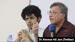 ڈاکٹر پرویز ہود بھائی اور ڈاکٹر عمار علی جان (فائل فوٹو)