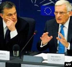 Premijer Mađarske i predsednik Evropskog parlamenta na konferenciji za novinare u Strazburu