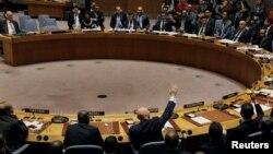 واسیلی نبنزیا، نماینده روسیه در سازمان ملل و نماینده بولیوی به قطعنامه روسیه رای دادند و با قطعنامه آمریکا مخالفت کرد.