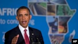 美國總統奧巴馬訪問非洲7月1日在坦桑尼亞發表講話。