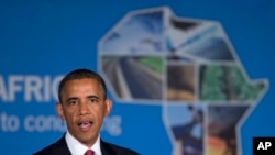 President Obama speaks at a business forum in Tanzania aimed at increasing investment in Africa.