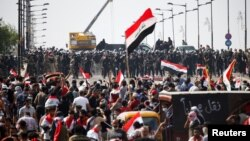 په بغداد کې د مظاهرو یوه څنډه