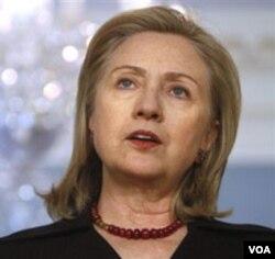 Menlu Amerika, Hillary Clinton mengutuk kekerasan di Libya, Selasa (22/2).