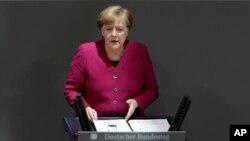 Angela Merkel u njemačkom Parlamentu 21.03.2018