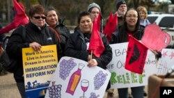 Од вчерашниот протест пред Белата куќа во поддршка на недокументираните имигранти