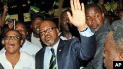 André Mba Obame, un des leaders de l'opposition gabonaise