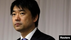 大阪市市长桥下彻2012年11月29日参加记者会