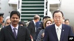 21일 말레이시아를 방문한 반기문 유엔 사무총장 (오른쪽).