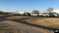 Полицейские машины в городе Хесстон, Канзас. 25 февраля 2016.