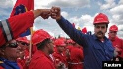 """El presidente Maduro volvió a señalar a la oposición como responsable por los problemas del país, y afirmó que quiere superar el """"rentismo petrolero""""."""