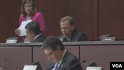 美国国会众议院情报委员会于周四举行的听证会(视频截图)