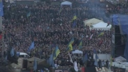 Protesters Remain in Kyiv's Independence Square