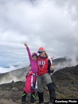 Montannah Kenney, 7, of Texas and her mother, Hollie, climbed Mt. Kilimanjaro in Tanzania. (Photo courtesy of Hollie Kenney)
