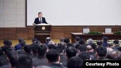 Prezident Shavkat Mirziyoyev Milliy xavfsizlik xizmati xodimlari oldida, 31-yanvar, 2018
