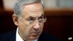 PM Benyamin Netanyahu dalam pertemuan mingguan dengan anggota kabinet Israel di Yerusalem, 4 Agustus 2013 (Foto: dok).