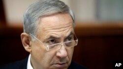 지난 주 일요 내각 회의에 참여한 이스라엘 네타냐후 총리