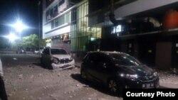 Ledakan di rumah sakit Siloam Makassar (Foto: Kompas TV Biro Makassar)