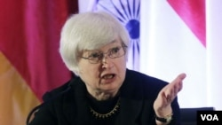 Janet Yellen akan menggantikan Ben Bernanke, yang masa jabatan Kepala Federal Reserve akan berakhir 31 Januari 2014 (foto: dok).