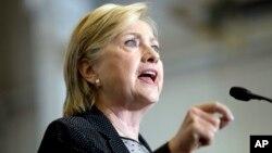 Calon presiden Partai Demokrat Hillary Clinton (foto: dok).