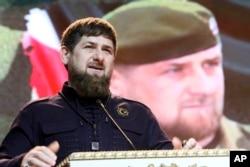 FILE - Chechen regional leader Ramzan Kadyrov, Grozny, Russia, Feb. 20, 2016.