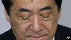 日本首相菅直人星期五在東京參加民主黨大會