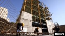 Un chantier de construction à Téhéran, en Iran, le 20 janvier 2016.
