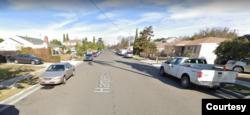 Một khúc đường Harper Street ở Midway City. (Hình: Google Maps)