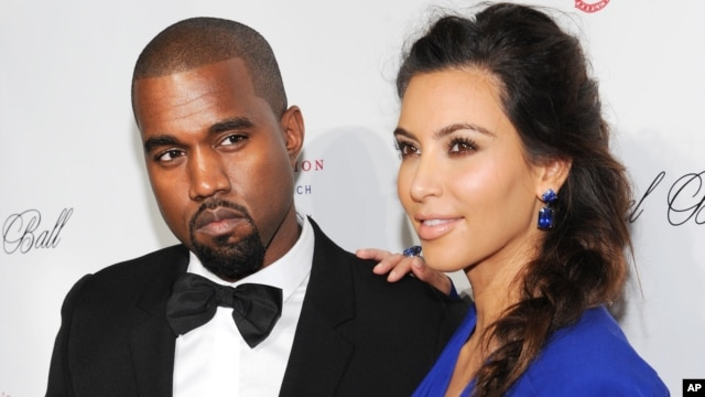 Singer Kanye West and girlfriend Kim Kardashian attend Gabrielle's Angel Foundation 2012 Angel Ball cancer research benefit at Cipriani Wall Street on Oct. 22, 2012 in New York