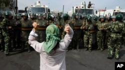 Şincan'daki Urumçi bölgesinde 2009 yılında düzenlenen protesto