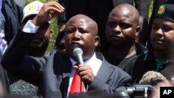 Julius Malema, o truculento político sul-africano e líder do novo partido dos Combatentes pela Liberdade Económica - EFF.