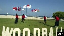 Các tuyển thủ bóng gỗ Thái Lan tại Đại hội thể thao bãi biển châu Á ở Nusa Dua, Bali, Indonesia (ảnh tư liệu 2008)