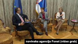 Premijerka Srbije Ana Brnabić nije se saglasila sa ocenama EK u Izveštaju o napretku Srbije, Foto: video grab