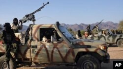 Des Touaregs à la tête d'un mouvement rebelle dans le désert au nord du Niger, en janvier 2008