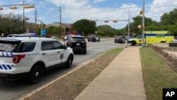 Une voiture de police à Austin, au Texas, le 18 avril 2021.