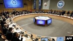 Các đại biểu dự hội nghị IMF, WB trong thủ đô Washington hôm 16/4/11