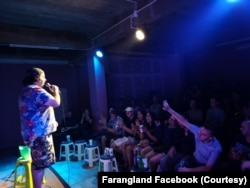 Jonny Nanachart, an American comedian, performed a show at Khaosan Comedy Club in Bangkok, Thailand.