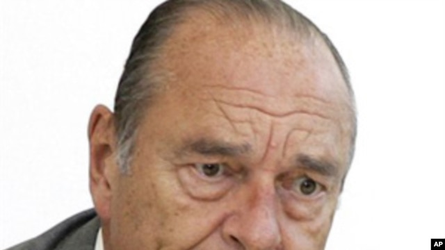 Former French president Jacques Chirac. (file photo)