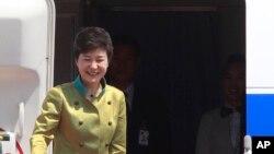 Tổng thống Park Geun-hye chuẩn bị bay sang Mỹ.
