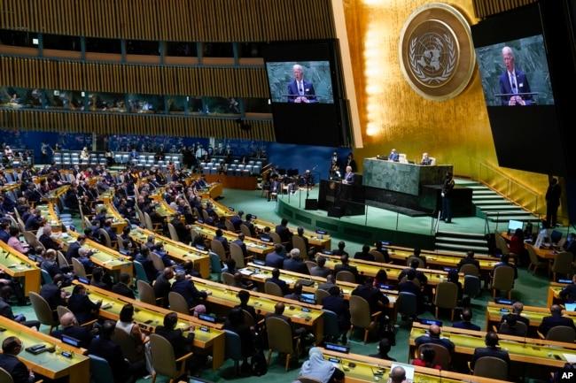 Sidang Majelis Umum PBB ke-76 dilangsungkan di markas PBB di New York di tengah pengamanan ketat.